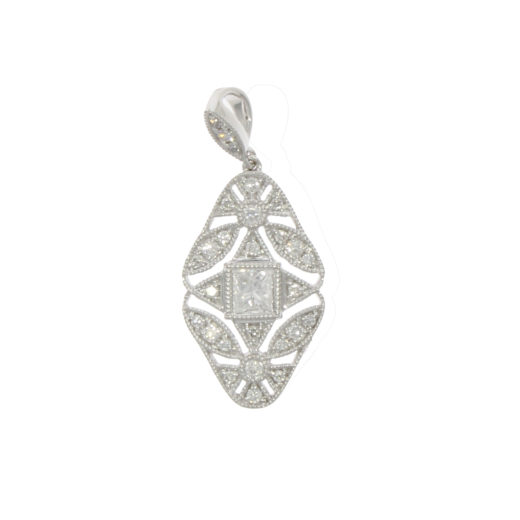 neckwear earrings pendants category product diamond not just lozenge flat pendant gold